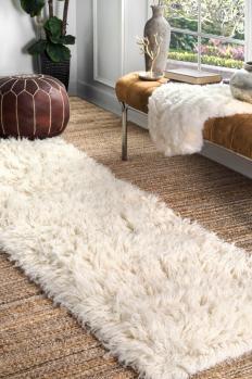 Dining Shaggy Rugs Carpet Room Floor Mat Fluffy Home Anti Skid