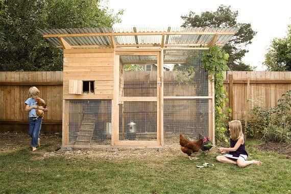 The Garden Coop Walk In Chicken Coop Plan eBook PDF Instant Download Imperial Units Feet Inches