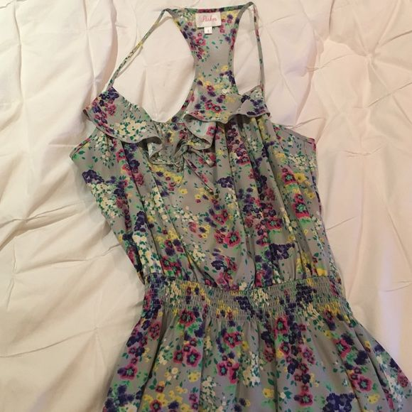 Parker floral silk dress Great condition. Floral print. Parker Dresses Mini