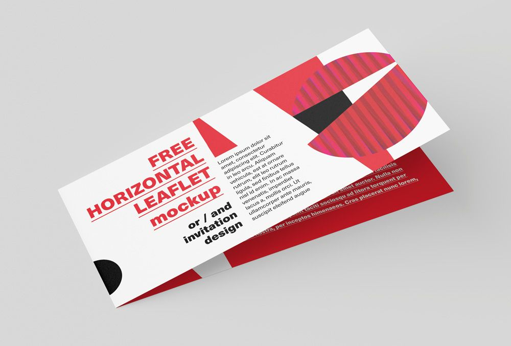 Free DL horizontal leaflet mockup