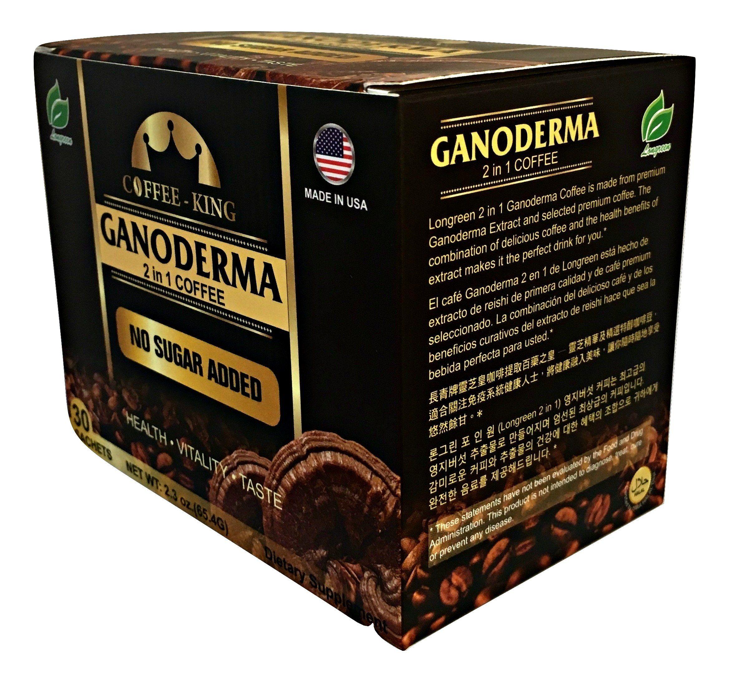 Ganoderma Coffee Reishi Coffee Mix Instant 2in1 Mushroom