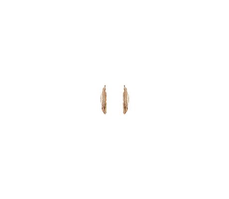Mini Feather Earrings-14K Yellow Gold