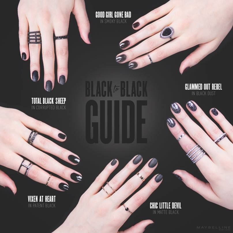 Black Nail Polish Inspiration - Embrace your dark side. Get your ...
