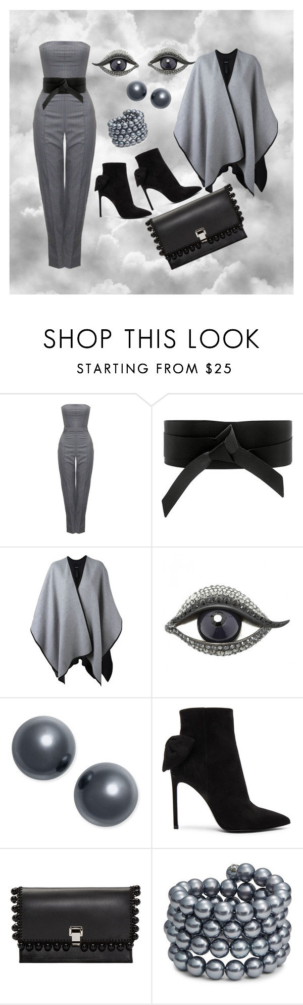 """""""A walk through the clouds"""" by ellenfischerbeauty ❤ liked on Polyvore featuring Alexander McQueen, IRO, Giorgio Armani, Lanvin, Charter Club, Yves Saint Laurent, Proenza Schouler, Kenneth Jay Lane, Givenchy and saintlaurent"""