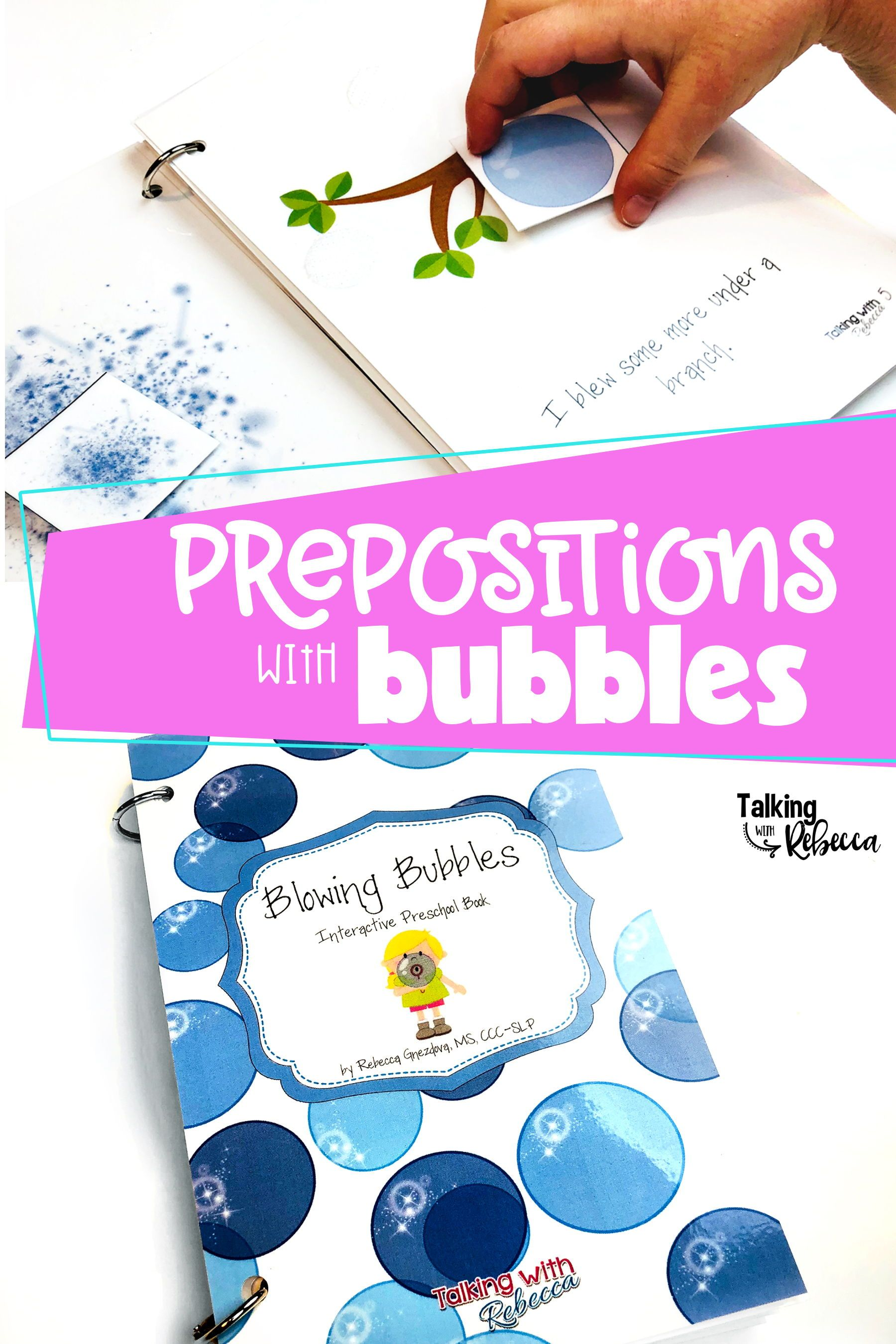 Blowing Bubbles Interactive Prepositions Book With Images