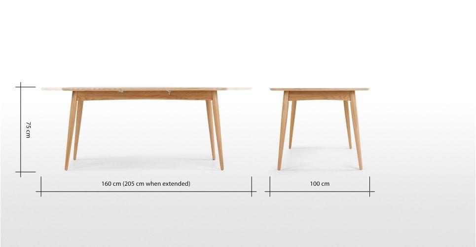 Deauville, table à rallonges, chêne | made.com