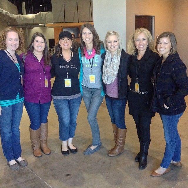 "Via @Vanessa Petrea - ""Ladies of Table 45 at #leadingandlovingit!! Honored to meet some amazing worship pastor's wives!!"""
