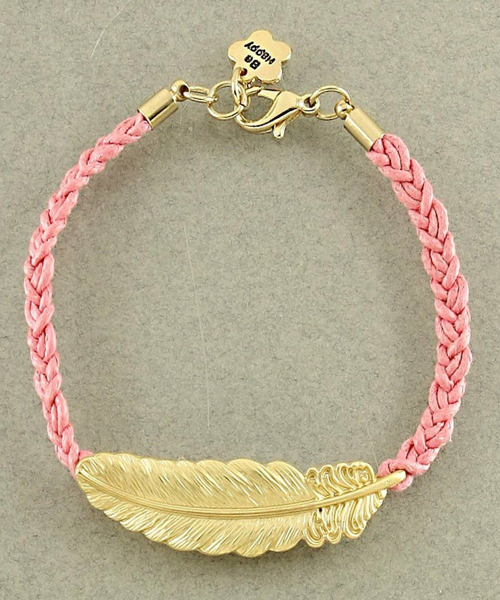 Feather Light Bracelet in Pink