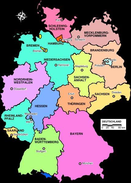Deutschlandkarte Mit Bundeslandern Deutsche Bundeslander