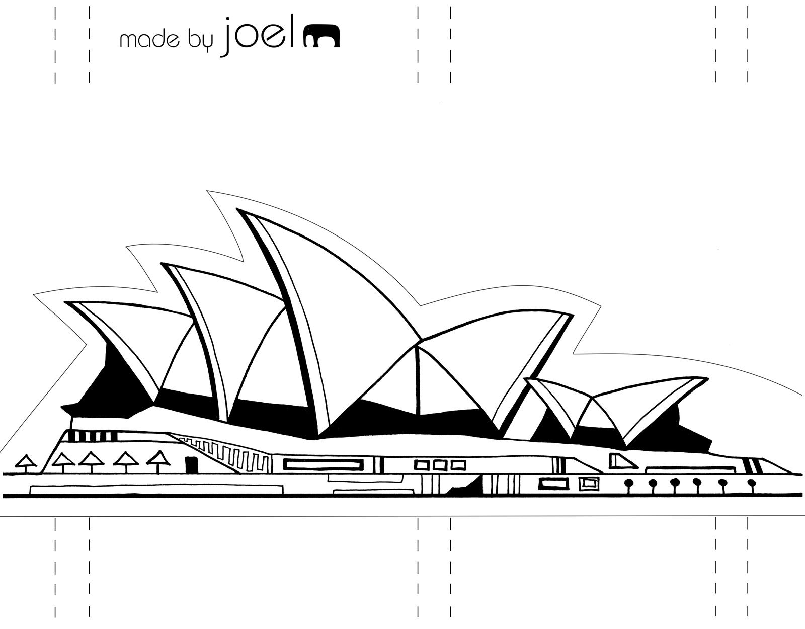 Template Made By Joel Paper City Sydney Opera House