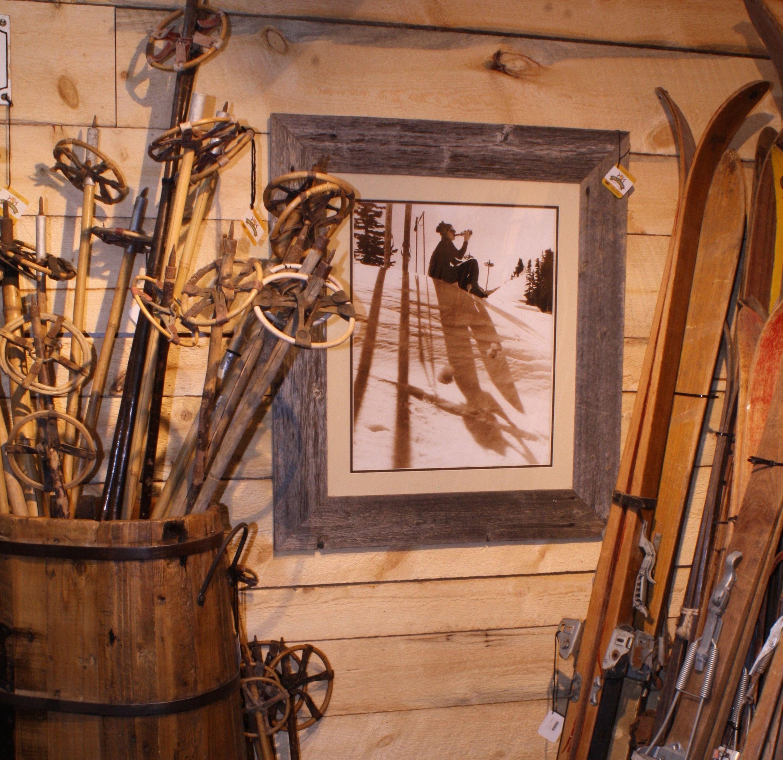 Vintage Skis and Poles Antique skis, Vintage skis, Antiques