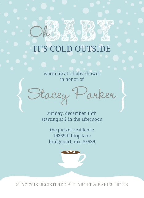 Itu0027s Cold Outside Winter Baby Shower Invitation By PurpleTrail.com.