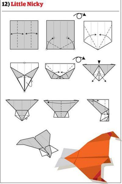 12 Diferentes aviões de papel