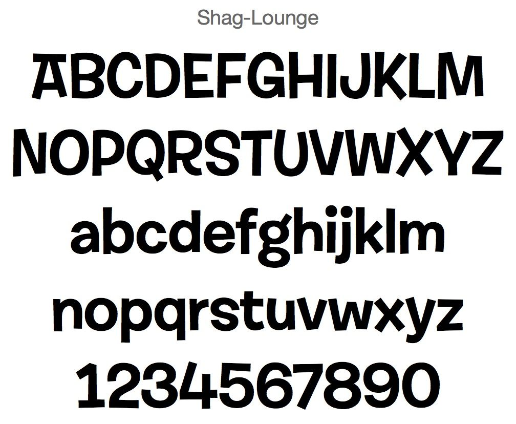 Shag Lounge Font Fonts Mobile App Identity