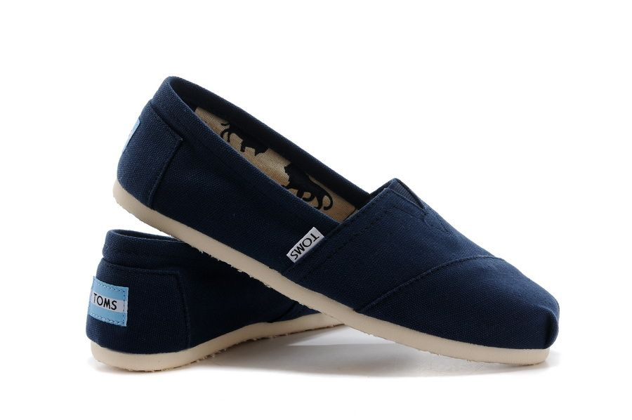 Toms Womens Classics Shoes Deep Blue only $19.50!