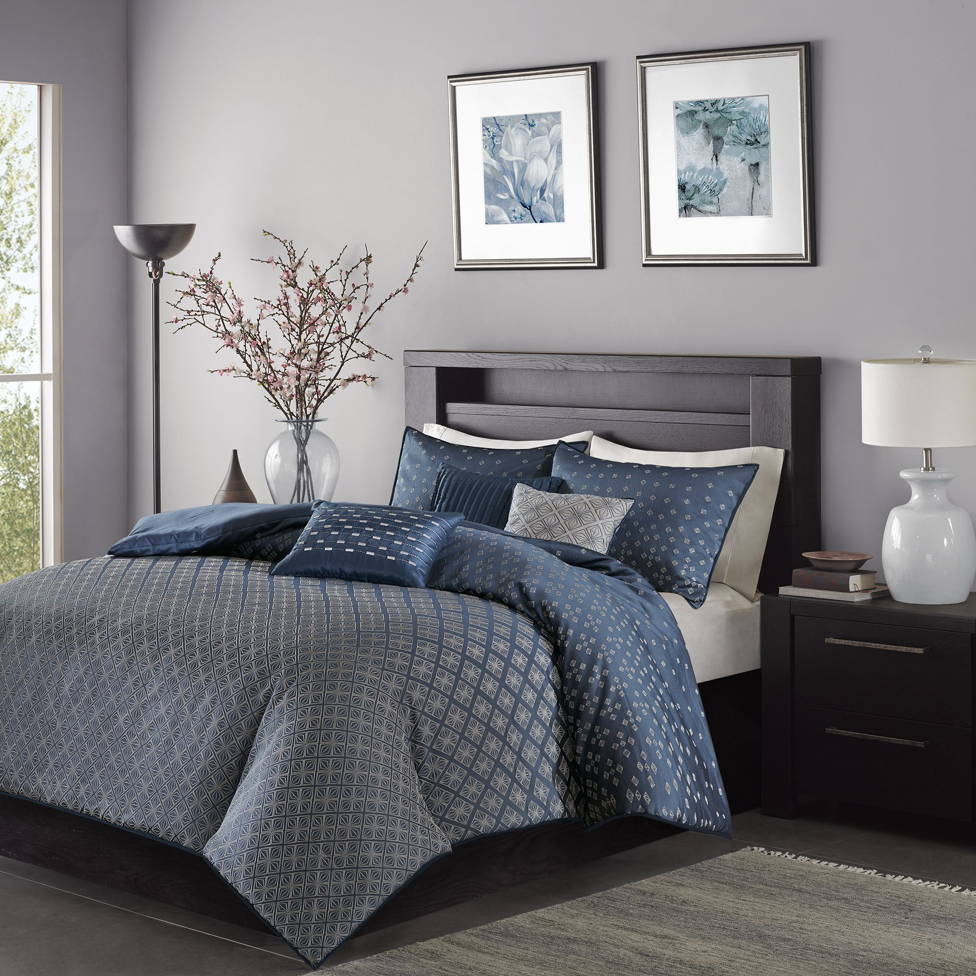 Madison park morris navy piece duvet cover set bedroom
