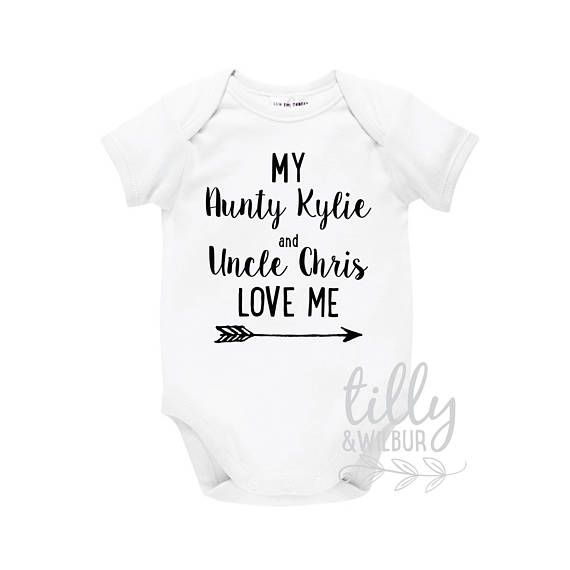My aunty and uncle love me baby bodysuit for new arrival nieces personalised baby gifts my aunty and uncle love me baby bodysuit for new arrival nieces and nephews new negle Choice Image
