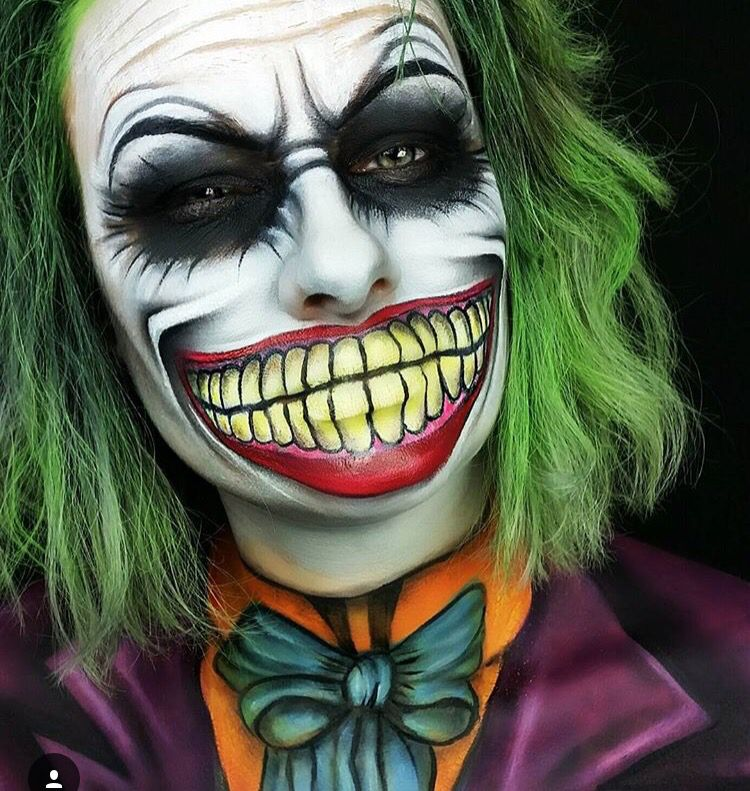 pin by cjico on body art joker makeup halloween makeup. Black Bedroom Furniture Sets. Home Design Ideas