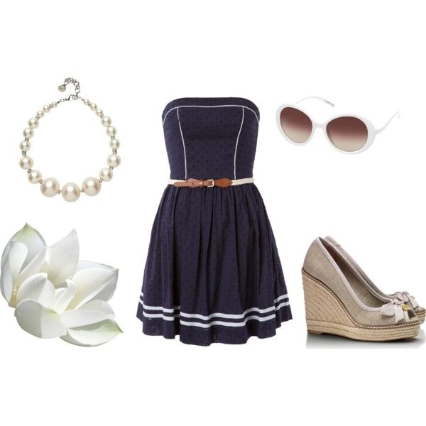 Love this outfit put together by april go lightly!  Hurry up Spring!