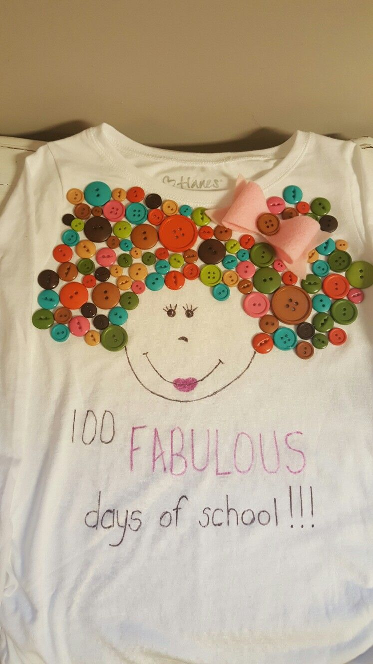 ideas for making crafts 100 fabulous days of school shirt hairbow buttons and hair 4742
