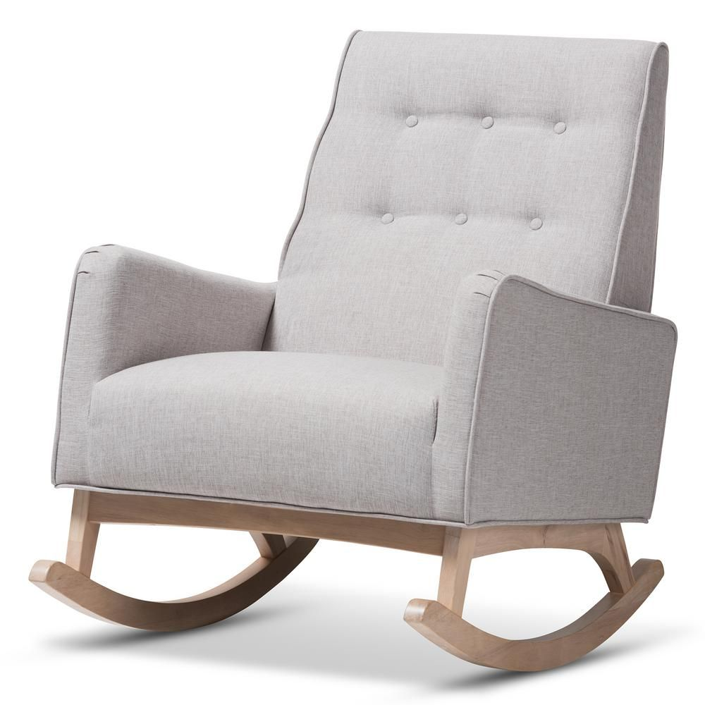 Super Baxton Studio Marlena Light Gray Fabric Rocking Chair Pdpeps Interior Chair Design Pdpepsorg