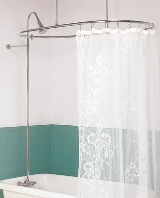 Oval Shower Surround And Hardware Perfectly Suits For All
