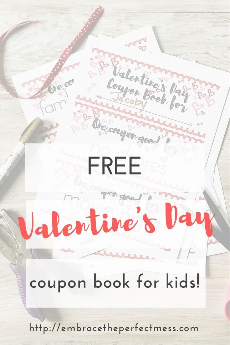 Free ValentineS Day Coupon Book For Kids  Parents