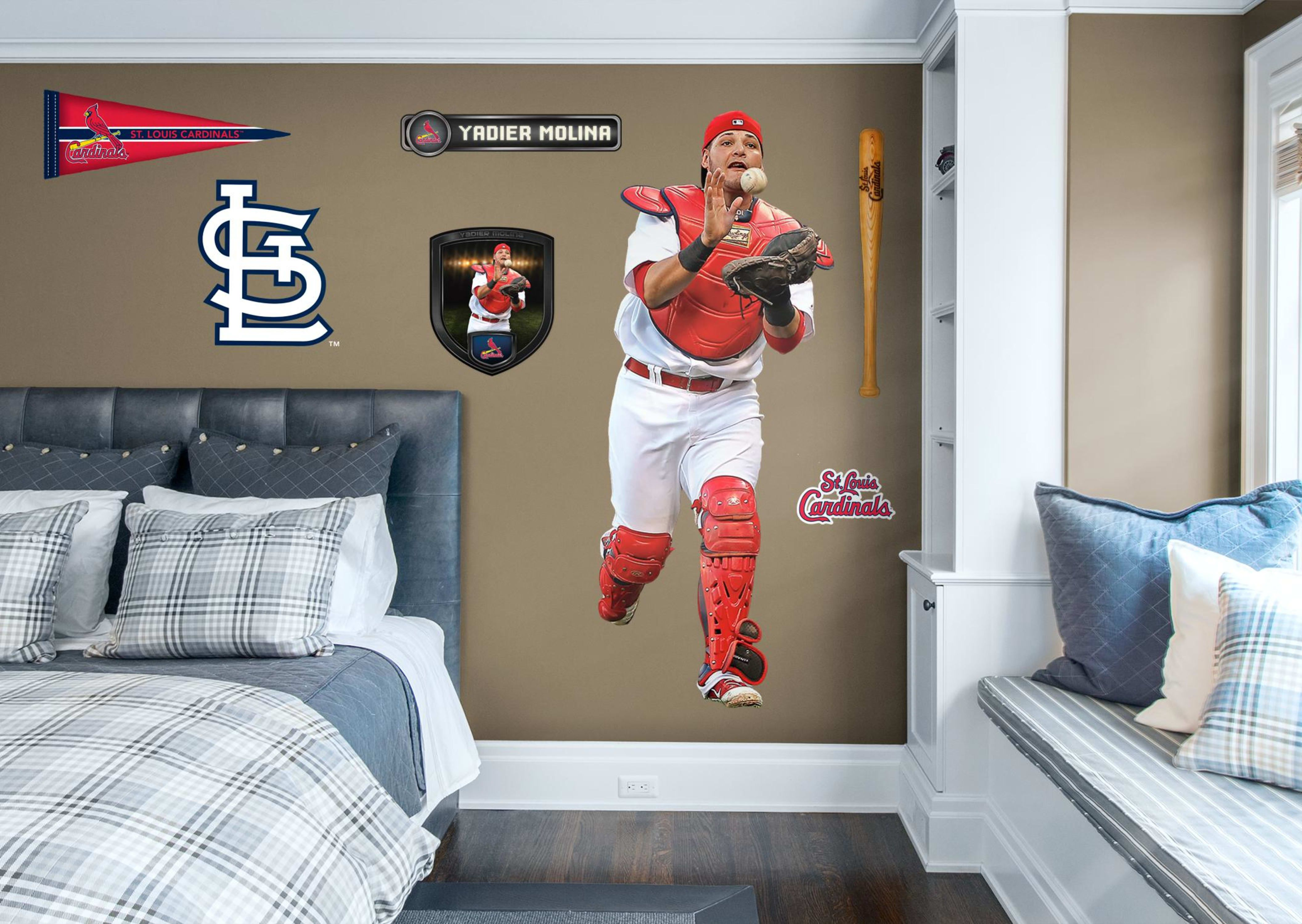 Boys Baseball Bedroom Yadier Molina From The St Louis Cardinals Transform Your Ballplayers