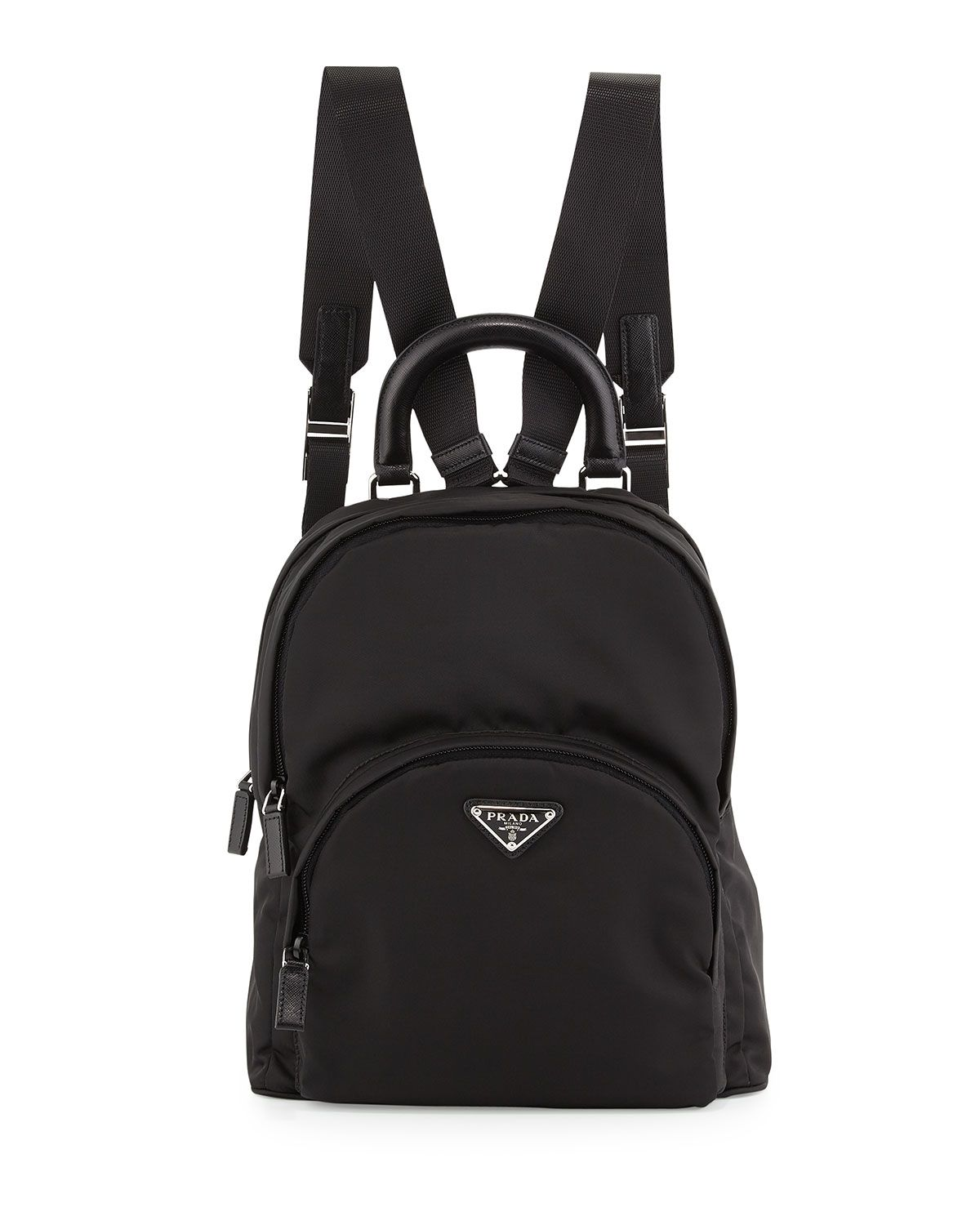 ff4e8ca6a419 Nylon Medium Dome Backpack Black (Nero) in 2019
