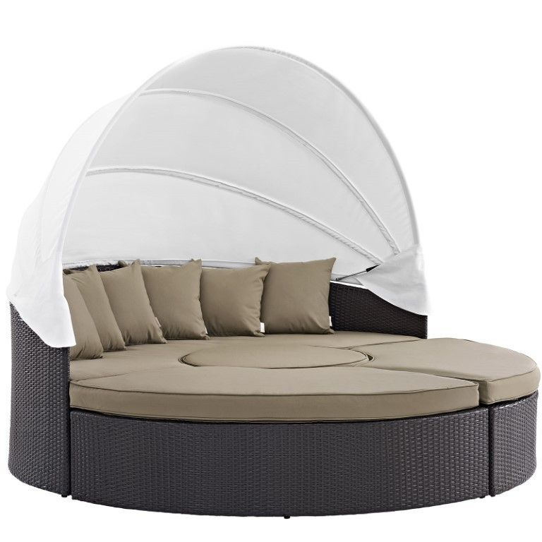 Modway Convene Canopy Outdoor Patio Daybed Outdoor