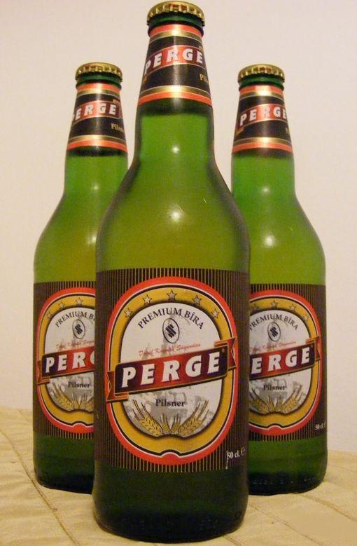 PERGE  Very good Turkish pilsner, premium beer  in 2019