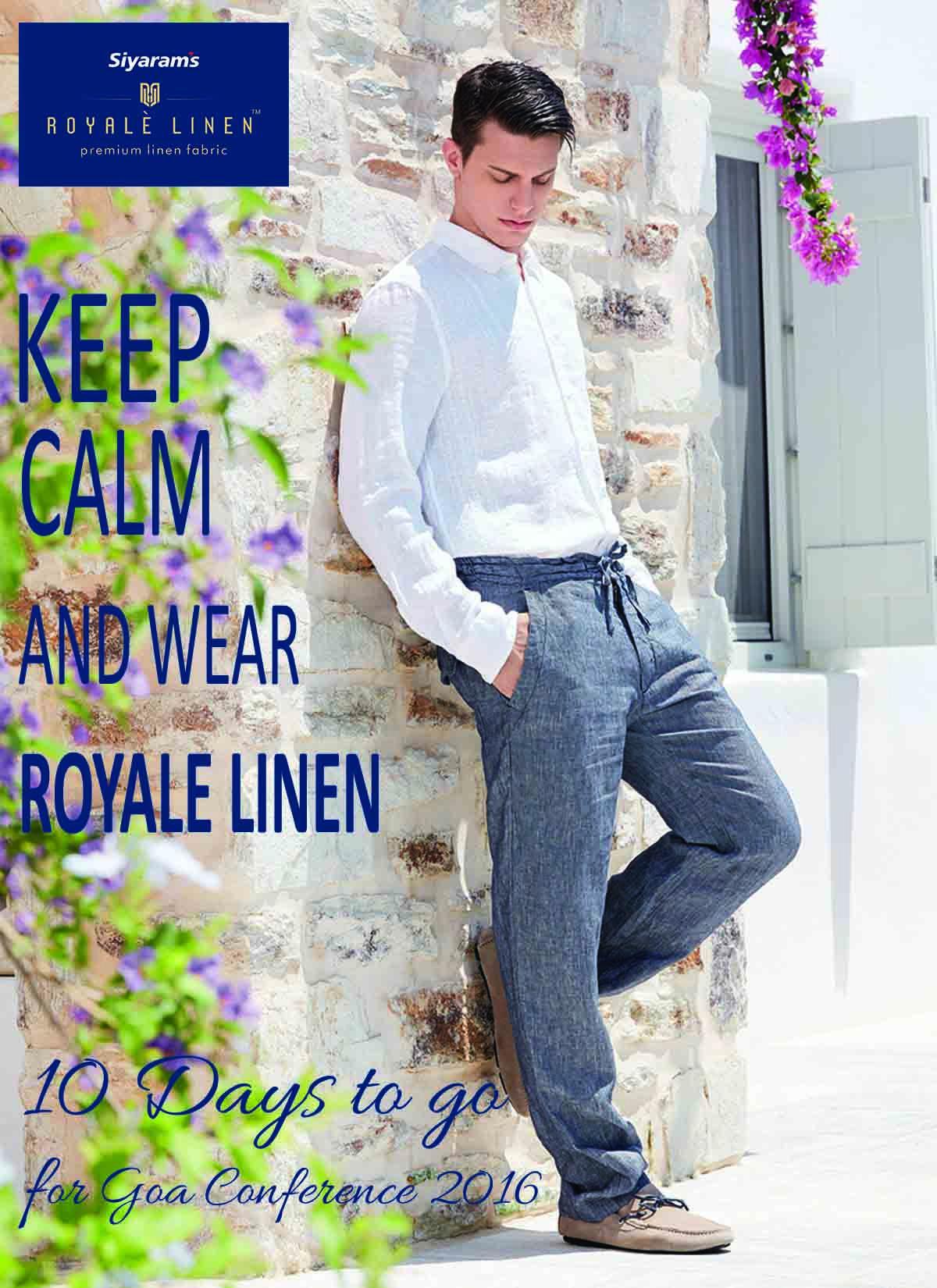 Reminder Design for Siyaram's Royale Linen by Padmaja