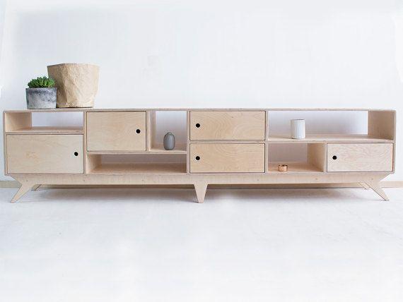 DRUPALlong eine skandinavische, Sperrholz-tv-Schrank   Konsole - schlafzimmerschrank mit tv