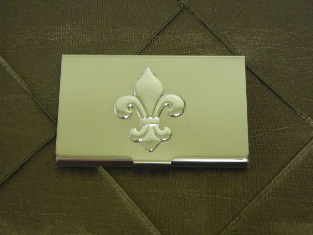 Business Card Holder-Fleur de Lis-Fleur de Lis; Business Card Holder ...