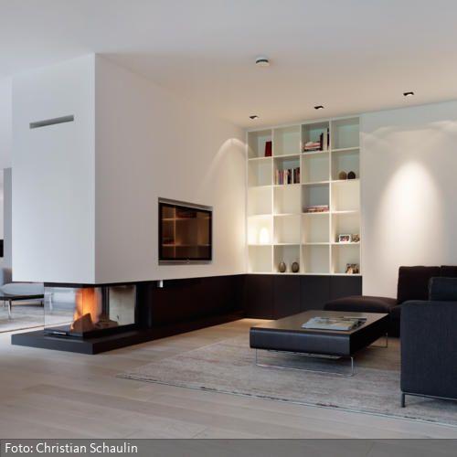 Gärtner Wohnprojekt - Wohnzimmer, Kamin Ideen rund ums Haus - wohnzimmer modern mit ofen