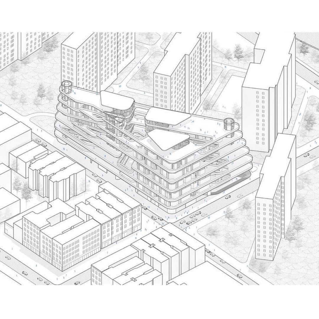 Connection Transition By Ohheyaprila Haoyuan Wang Alveng Syracuse Architecture Axonometric Drawing Architecture Presentation Design