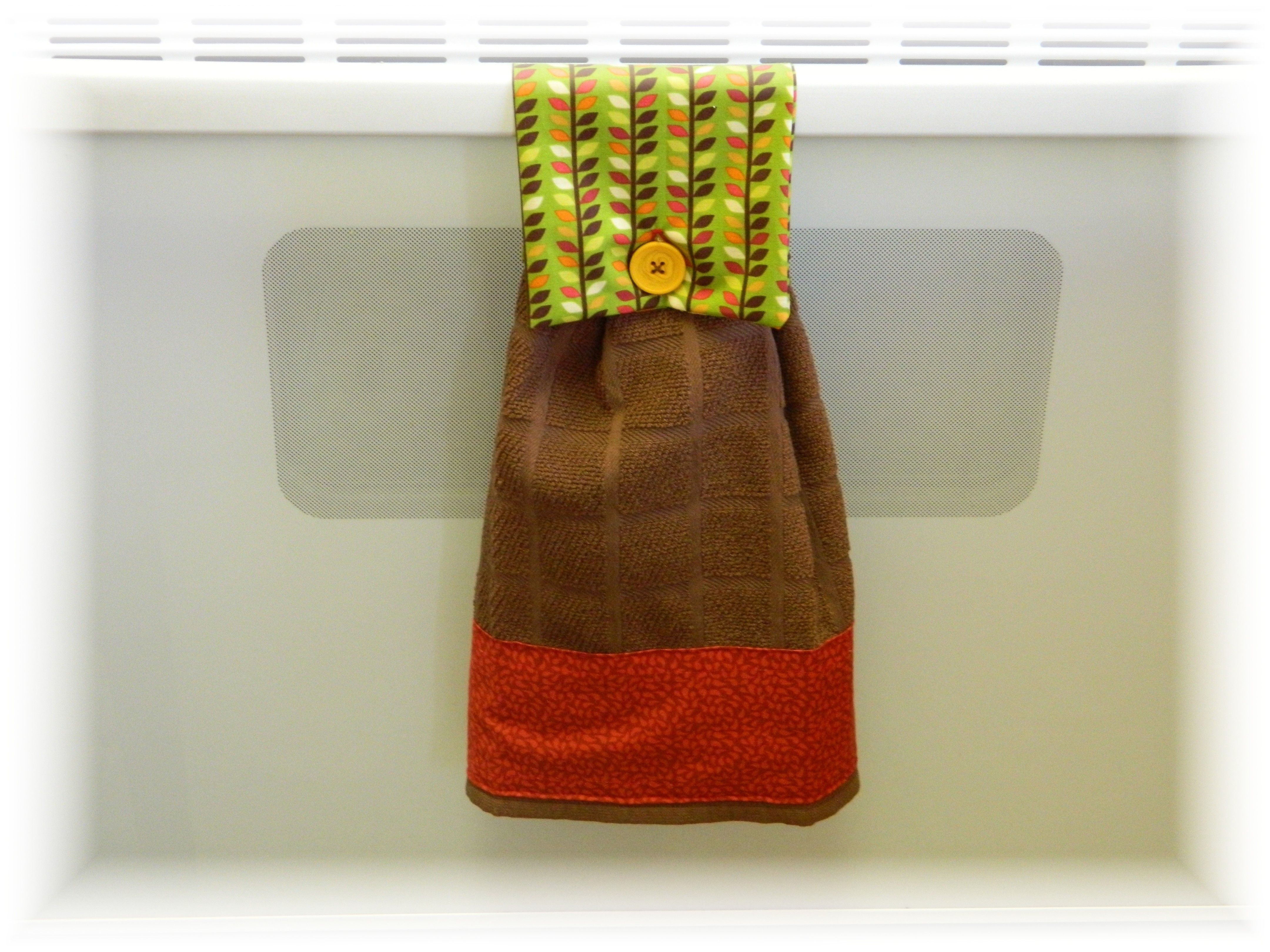 Oven towel tutorial toddler proof a sewing crochet knitting pinterest toddler proofing - Hanging kitchen towel tutorial ...