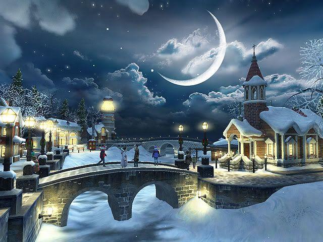Image Detail For Christmas Winter Scene For Desktop Christmas Landscape Christmas Desktop Wallpaper Christmas Desktop