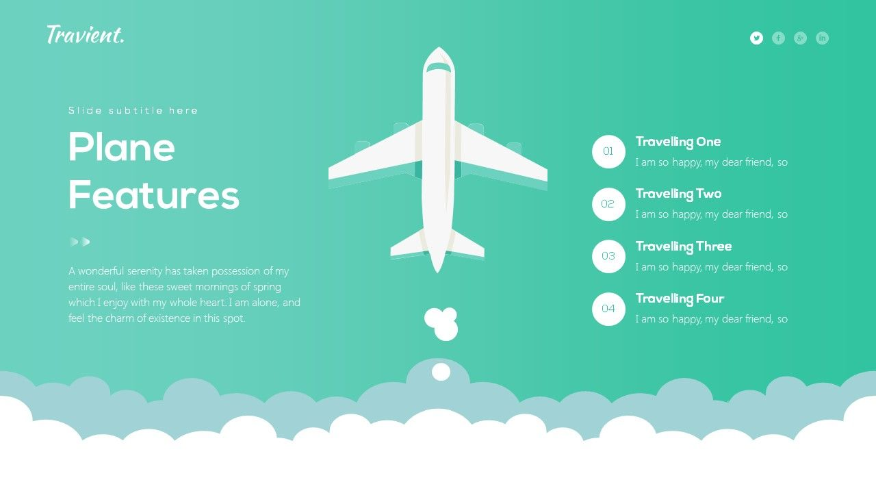 Travient Hotel Travel Agency Powerpoint Template Travel