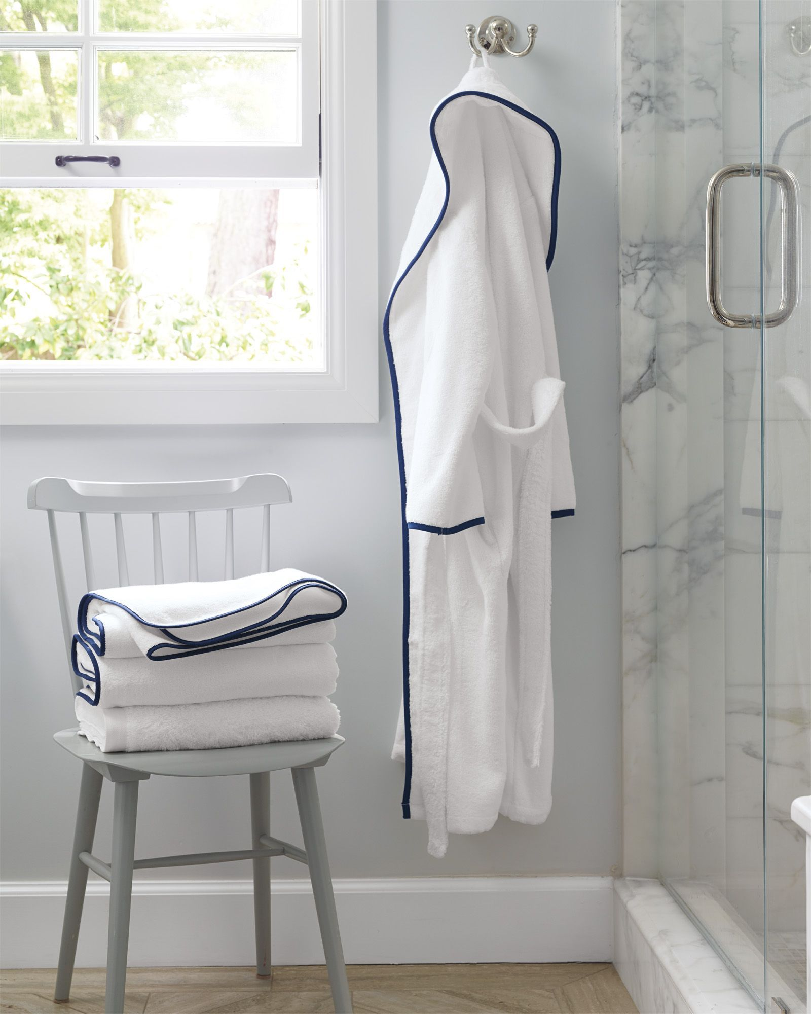 2f00012599 Laguna Bath Robe - apparel - bathroom essentials - bathroom inspiration via  Serena   Lily  bathroomdecor2019