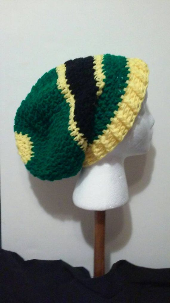 Green and Yellow Crochet Hat a4320f91563