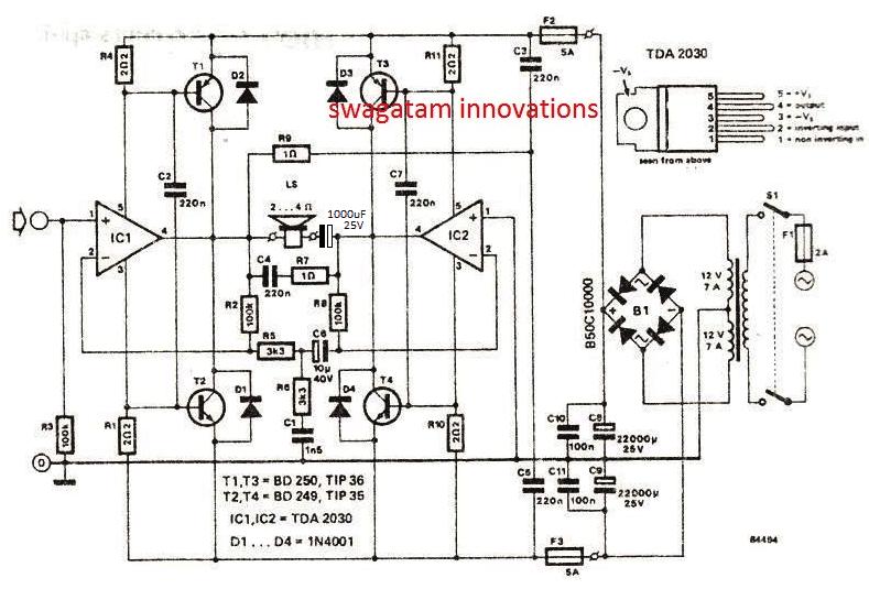 2030 amplifier circuit diagram pulsecode orgwondering how to develope a super easy 120 watt amplifier circuit