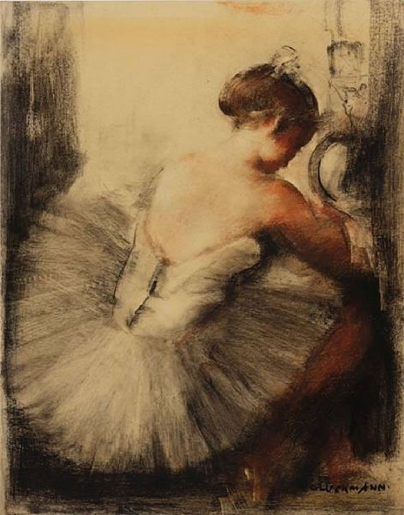 Grigory Gluckmann Russian Born American Painter 1898 1973 Ballerina