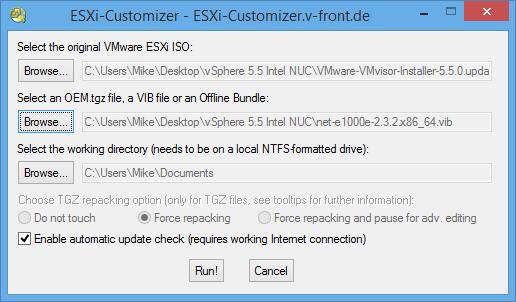 Installing VMware vSphere ESXi 5.5 on an Intel (Haswell) NUC (D34010WYH1)