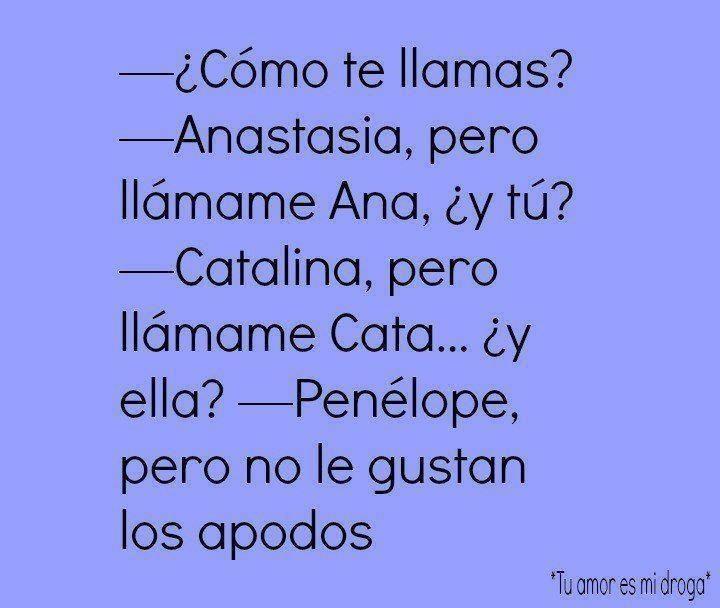No   ! a los sobrenombres!!! | Humor ( español