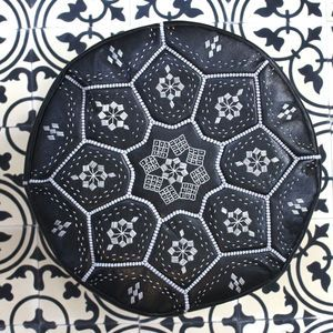 Tile & Decor Moroccan Leather Pouffe Cover Tile Design  Furniture  Decor