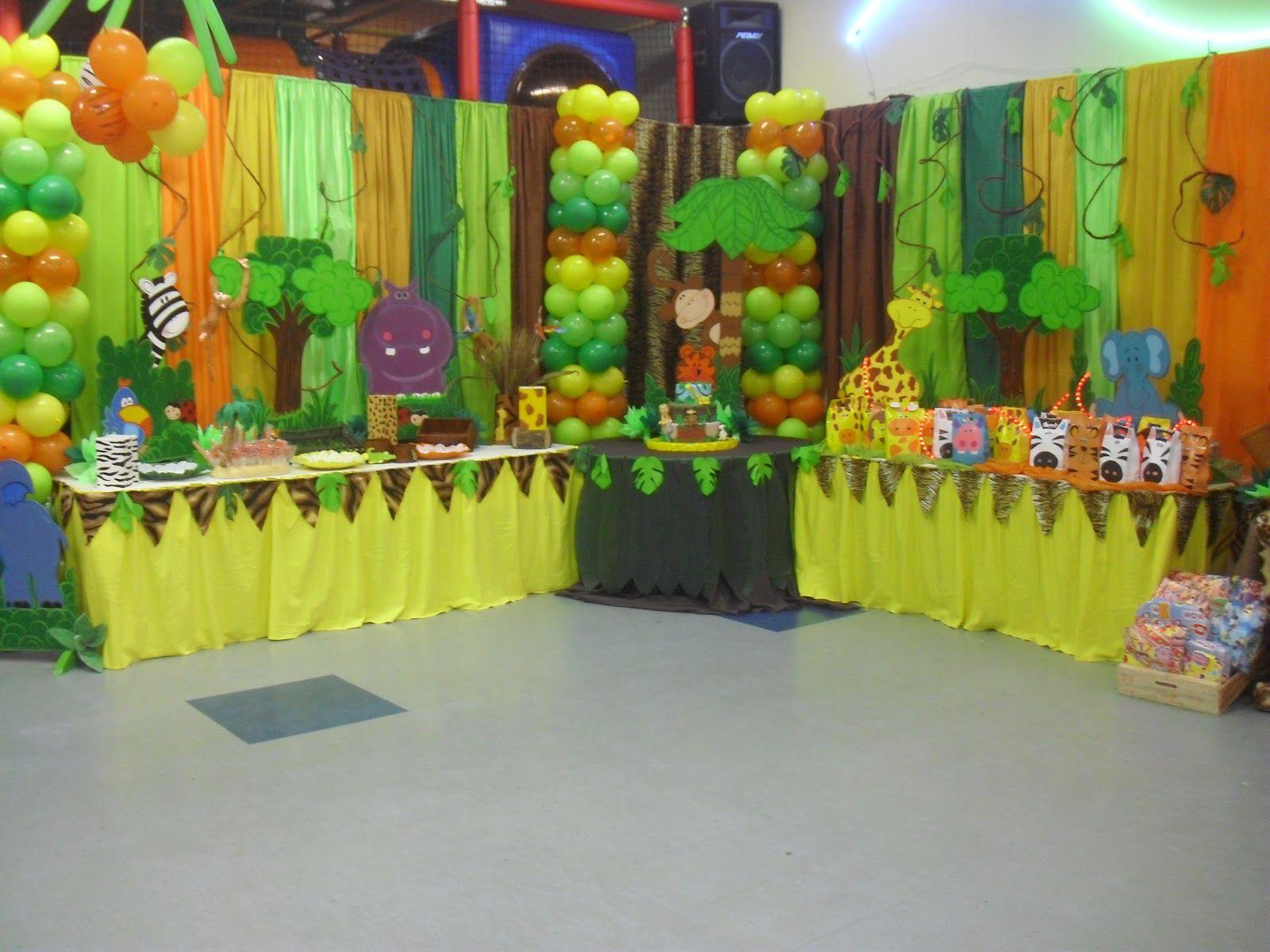 Decoraci n fiestas infantiles motivo safari imagui - Decoracion de cumpleanos infantiles ...