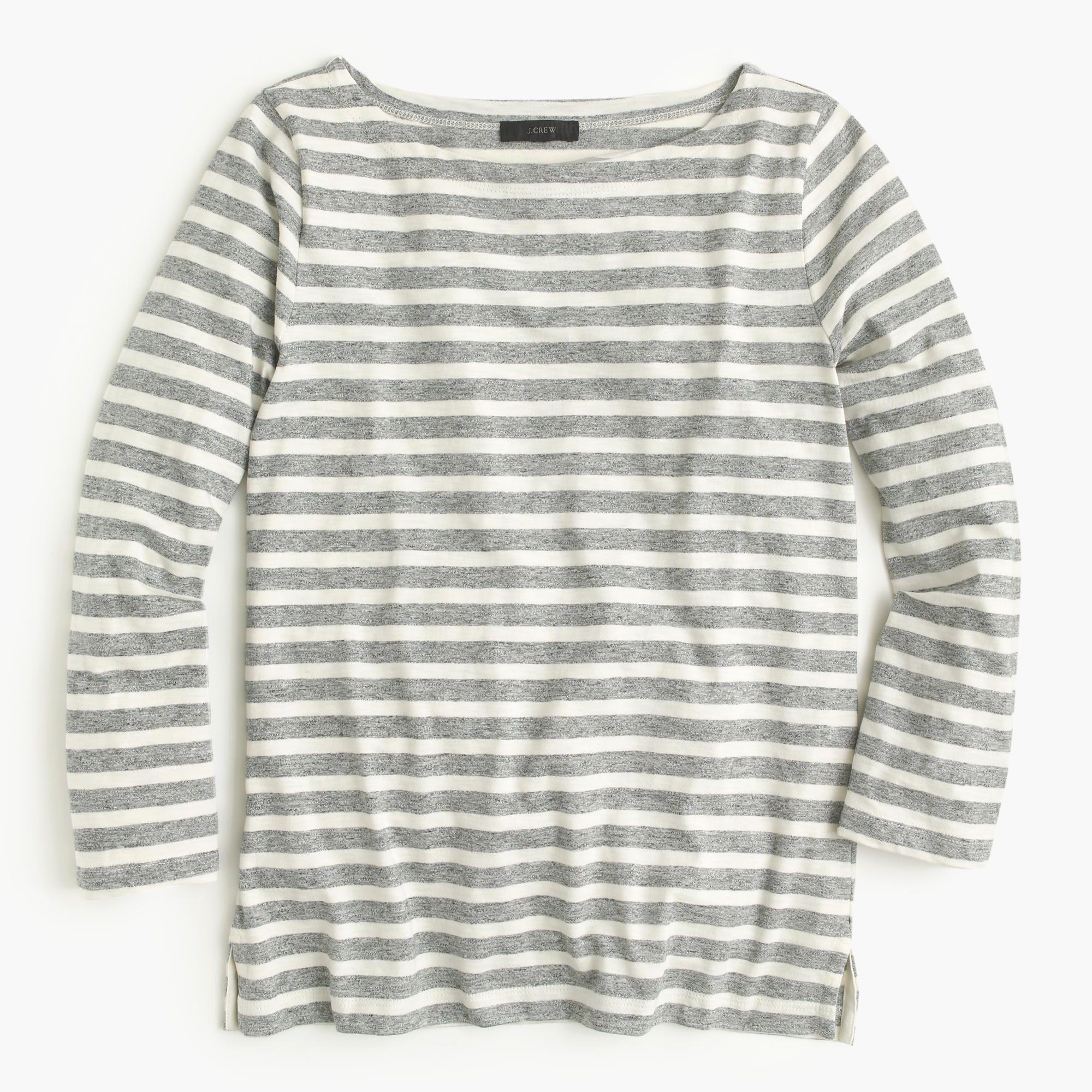 Striped boatneck T-shirt : classic tees | J.Crew