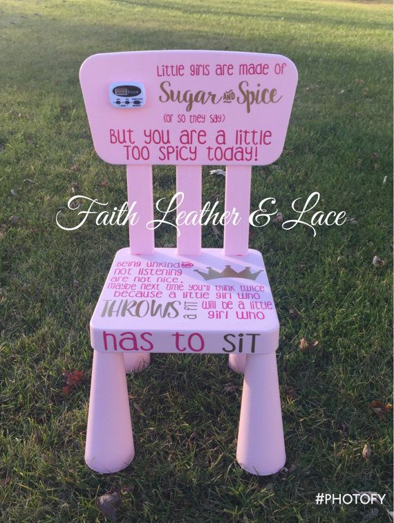 Pink Girls Timeout Chair With Timer By Faithleathernlace On Etsy