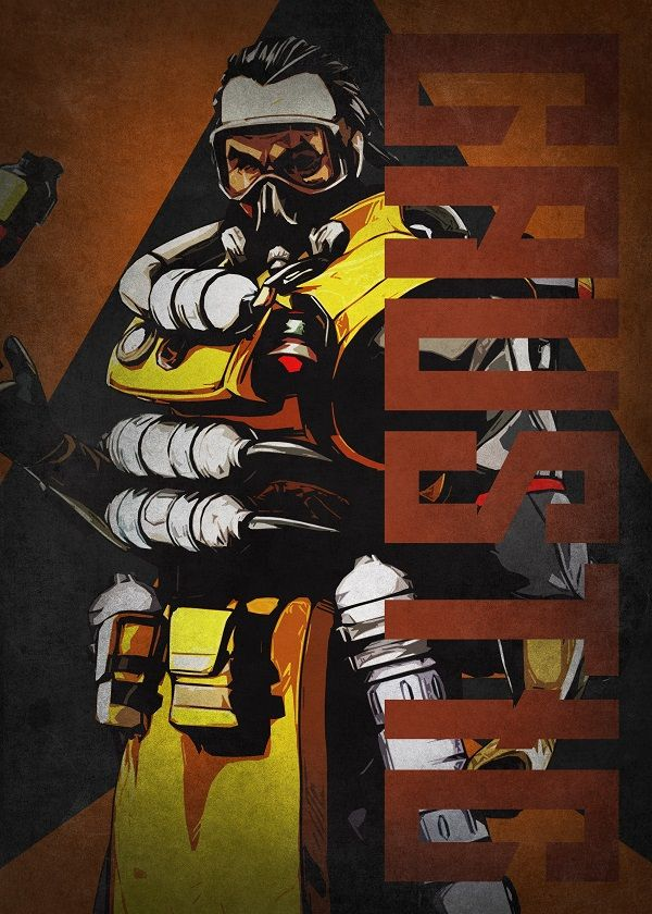 """Apex Legends Colourful Characters Caustic #Displate explore Pinterest""""> #Displate artwork by artist """"Beegeedoubleyou"""". Part… 